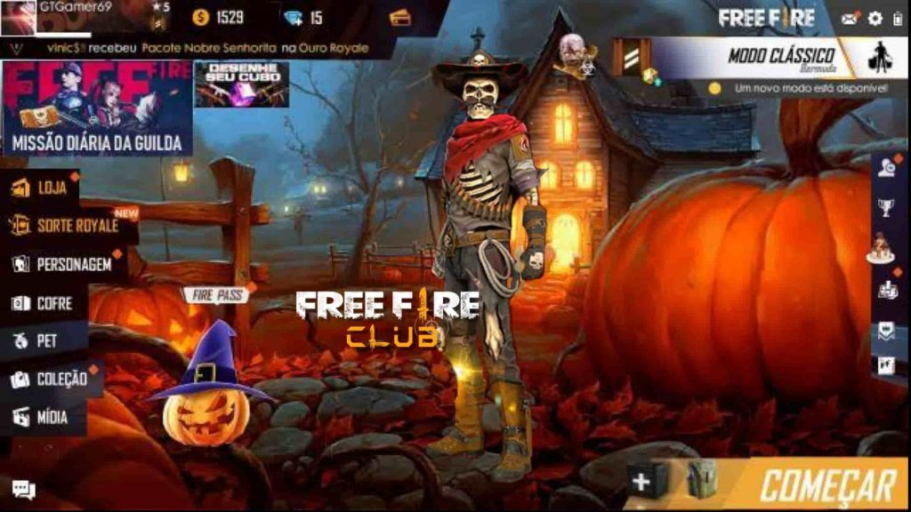 Saiu Nova Skin De Halloween Do Free Fire Free Fire Club