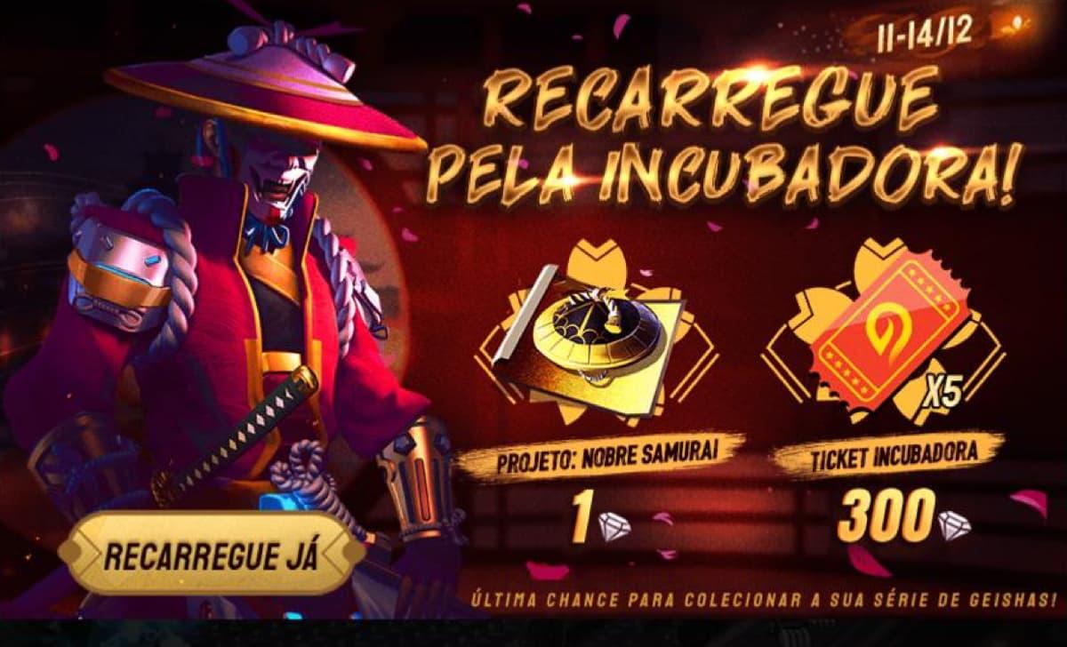Bug Na Recarga Da Incubadora Free Fire E Tickets De Bônus