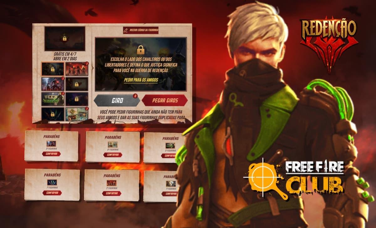 Troque agora as figurinhas do evento Redenção Free Fire com os jogadores -  Free Fire Club